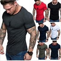 Laufshirt Kurzarm Atmungsaktiv Kurzarmshirt Sports Shirt Trainingsshirt Männer