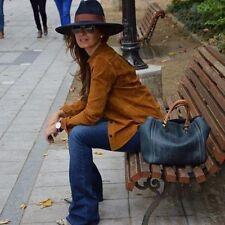 Zara woman premium veste en cuir Oberhemd L 38 40 Daim caramel marron nature