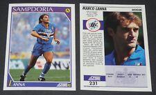 231 MARCO LANNA SAMPDORIA FOOTBALL CARD 92 1991-1992 CALCIO ITALIA SERIE A