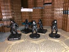 Star Wars Miniatures Imperial Navy Death Star Troopers  Lot No Cards , WotC