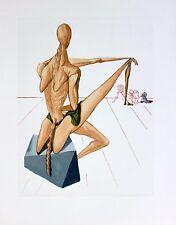 Salvador Dali Original Woodblock Engraving Hell 5 Divine Comedy 1960 COA
