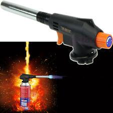 Butane Gas Torch Blow Auto Ignition Outdoor Welding BBQ Tool Flamethrower Burner