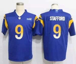 New Classic Los Angeles Rams #9 STAFFORD Football-NFL Men Blue Jersey