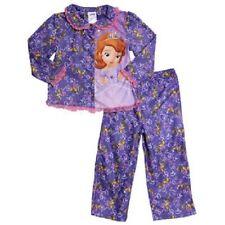 Toddler Girl Size 2T Disney Sofia the First Princess Flannel Pajamas Sleepwear