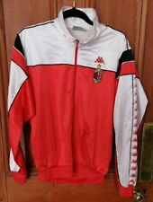 "1989 1990 89 90 AC MILAN TRAINING TRACK JACKET KAPPA RED WHITE 46"" CHEST M L"