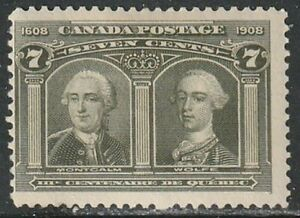 Canada, Quebec Tercentenary Issue, 100, Montcalm & Wolfe, Mint
