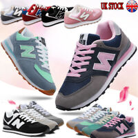 UK Womens Ladies Trainers Lace Up Sneakers Casual Fitness Running Gym Shoes Size