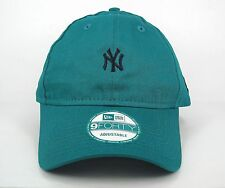 New Era Men's MLB NY Yankees Essential Mini Logo Green 9FORTY Cap - One Size