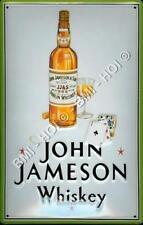 "John Jameson - Dublin Irish Whiskey Metal Sign LARGE 12"" x 8"" inches old advert"