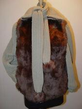 EXCELLENT CANADIAN CLOTH AND LAMB FUR JACKET COAT WOMEN WOMAN SIZE 6 SMALL