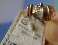 USSR Soviet Old Art jewelry Silver 925 RING marked MSS Moscow Original Label