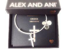 Alex and Ani Cross II Bangle Bracelet Rafaelian Silver NWTBC