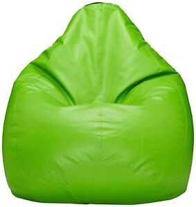 Best Green Leather Bean Bag Chair Cover for Adults & Kids XXL Without Beans