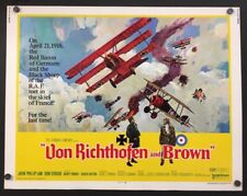 Von Richthofen and Brown Half Sheet Movie Poster 1971    *Hollywood Posters*