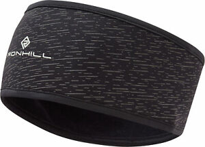 Ronhill Afterlight Running Headband Black Thermal Reflective Breathable