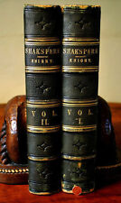 Stunning c. 1870 Leather Imperial Edition 2 Vol. Shakespeare Set San Diego, CA