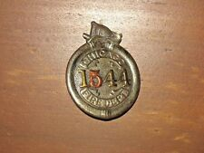 Chicago Fire Dept. Badge Firemans #1544 Piece Of Chicago History