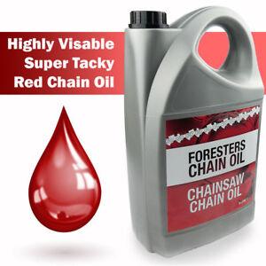 Chain Oil 5L Litres Chainsaw Super Tacky Guide Bar