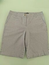 NWT PERFECT SHORTS BERMUDA RAILROAD STRIPE WHITE/INDIGO Shorts $59