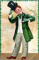 1908 Ellen Clapsaddle St Patricks Day Artist Signed Embossed Postcard BW