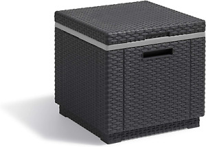 Allibert by Keter California Ice Cube Outdoor Cooler, Graphite, 42 x 42 x 41 cm