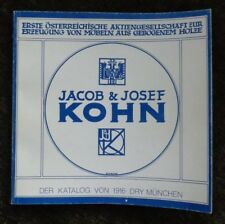 JACOB & JOSEPH KOHN : BUGHOLZMÖBEL. THONET, J. HOFFMAN, K. MÖSER AND OTHERS