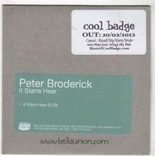 (GL171) Peter Broderick, It Starts Hear - 2012 DJ CD