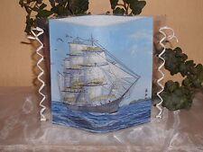 Tischlicht/Windlicht großes Segelschiff - Maritim