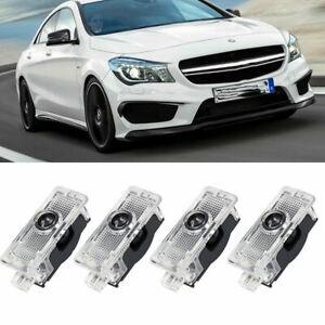 4Pcs LED Projector Ghost Shadow Door Lights For Mercedes Benz CLS CLA E C-Class