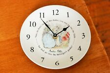 Peter Rabbit Wedgwood Clock Wedgewood China Plate Beatrix Potter Quartz AA