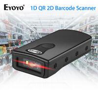 EYOYO 2.4G Wireless oder Bluetooth 1D/2D/QR Barcode Scanner Reader für Windows
