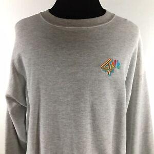 Channel 4 WCMH NBC TV Station Columbus Ohio Adult XL Gray Sweatshirt Vintage 80s