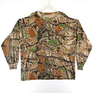 Cabelas Seclusion 3D Camo Men's Long Sleeve Shirt Size 2 X Large Outdoor Hunting