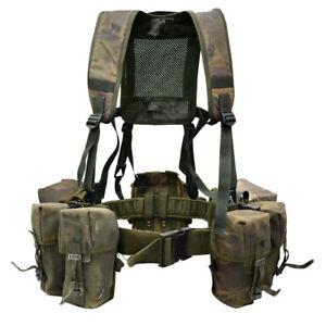 Genuine British Army Chest Rig DPM Tactical Airborne Webbing Set Woodland Vest