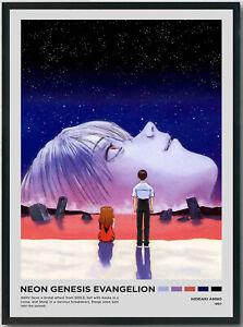 Neon Genesis Evangelion, Hideaki Anno, Movie Poster, Personalized Movie Poster,