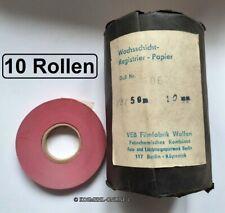 10x Alte Wachsschicht-Registrier-Papier Rolle für Impulsschreiber DDR Telefon