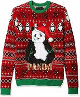 Blizzard Bay Men's Ugly Christmas Sweater Animals, Red/Green, Large