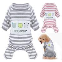 Hundepyjama Hundeoverall Hunde Schlafanzug Winter Warm Hundefleecemantel Weste