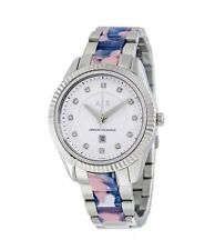 Brand New Armani Exchange Women's AX5438 'Active' Crystal Stainless Steel Watch