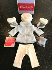 NEW American Girl Snow Flurry Outfit Faux Fur Sledding Christmas Holidays My AG