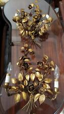 Antique Italian wall gilted sconces