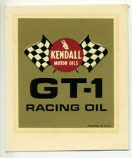 vtg Kendall motor oil water decal racing hot rod drag race GH-1 muscle car