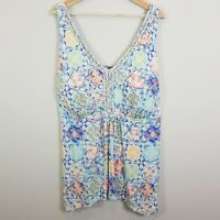 [ BEME ] Womens Print Tank Top w/ Padded Bust NEW | Size L or AU 24 / US 20