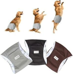 LUXJA Reusable Male Dog Diapers (Pack of 3), Washable Puppy Belly Band