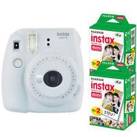 Fujifilm instax mini 9 Smokey White Instant Film Camera + 40 Mini Prints