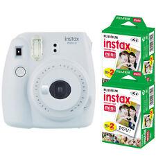 Fujifilm instax mini 9 Instant Film (Smokey White) Camera  + 40 Mini Prints