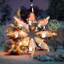 Golden Crystal Ornament Star Suncatcher Christmas Decor Wedding Gifts Top 2013