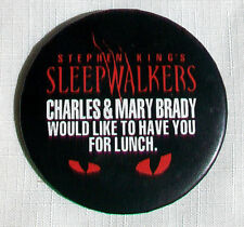 Original SLEEPWALKERS pin Mick Garris Stephen king Madchen Amick Alice Krige