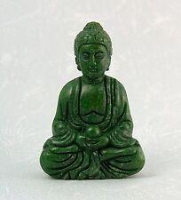 GREEN JADE GEMSTONE BUDDHA CARVING, 5.8 cm tall