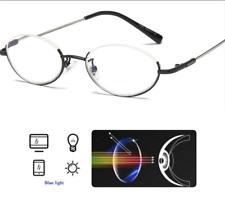 Half Rimless Reading Glasses Mens Womens Blue Light Blocking Reverse Readers 1~4